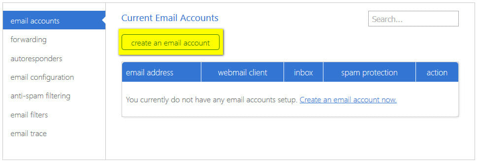 bluehost-create-email-account