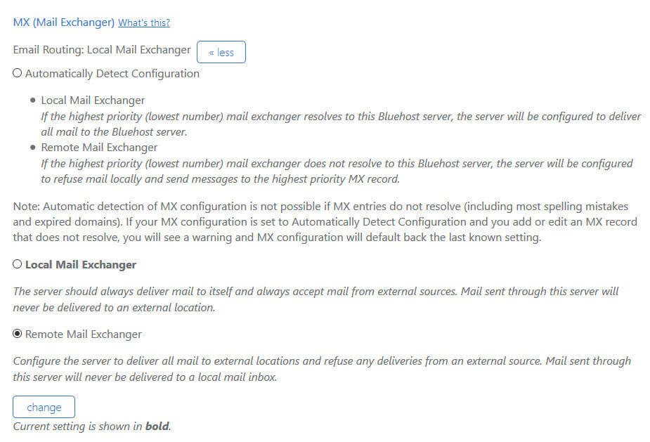 bluehost-mail-exchanger-remote